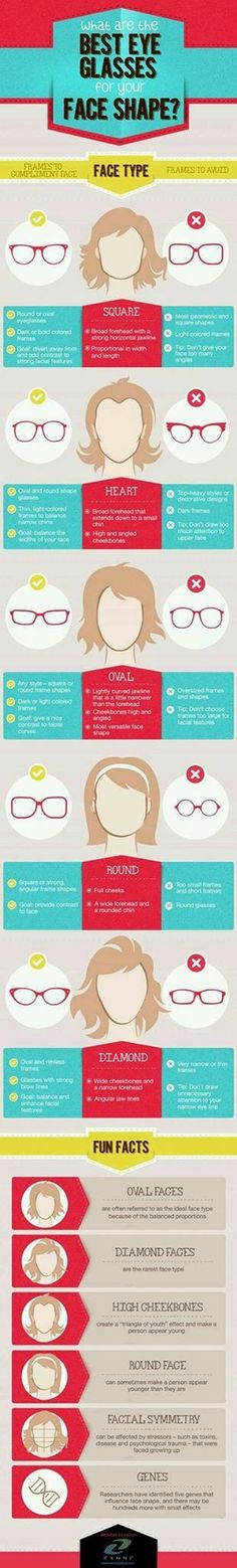 Best Eyeglasses for Your Face Shape Infographic is one of the best  Infographics created in the Fashion category. Check out Best Eyeglasses for  Your Face ... 30ff7234dd20