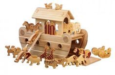 Wooden Noah's Ark Extra Large Deluxe Natural - Lanka Kade
