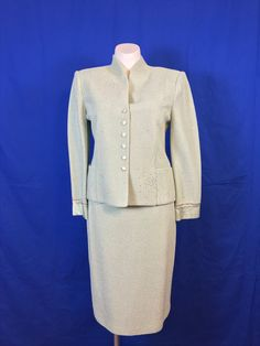 NWT #STJOHN Collection by #MariaGray Grn Tea w/Silver Blazer/Skirt Sz 14/14      #Sale #dealhunter #hotitems at #selinfinity - #onlineboutique #onlineshopping #womensclothing #discountsale #salesevent #greatgifts #giftsforher #fashion #buzz #trending    https://www.selinfinity.com/product-page/nwt-st-john-collection-by-maria-grn-tea-w-silver-2-piece-blazer-skirt-sz-14-14