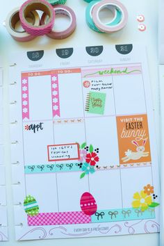 Plan with Me Easter Theme Blog Planner, Happy Planner, Easter Stickers, Best Planners, Planner Decorating, Easter Colors, Start Writing, Coordinating Colors, Filofax