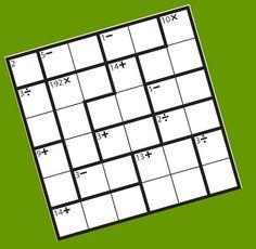 Kenken: juego aritmético.