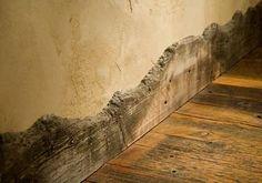 love this trim! @Alana Myers Barn Wood Walls, Reclaimed Wood Floors, Reclaimed Wood Furniture, Reclaimed Wood Bedroom, Reclaimed Wood Countertop, Rustic Wood Bench, Unique Wood Furniture, Rustic Floors, Reclaimed Wood Kitchen
