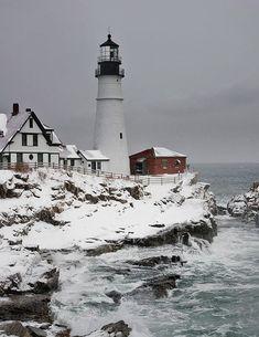Portland Head in Cape Elizabeth, Maine                                                                                                                                                     More