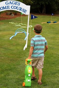 """Photo 5 of 48: Golf / Birthday """"Gage is FORE...and a half!"""" 