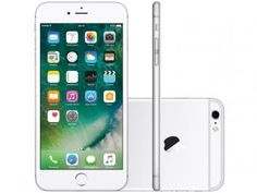 "iPhone 6s Plus Apple 128GB Prata 4G Tela 5.5"" - Retina Câm. 12MP + Selfie 5MP iOS 10 Proc. Chip A9"