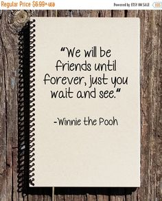 SALE: Friendship Journal Winnie the Pooh by CulturalBindings