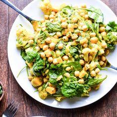 Chickpea Mango and Curried Cauliflower Salad (Vegan Gluten-Free)