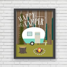 Hey, I found this really awesome Etsy listing at https://www.etsy.com/listing/173964054/home-decor-camping-wall-art-happy-camper