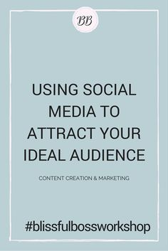 How to use social media to attract your ideal audience. Live workshop on Pinterest and Twitter content and marketing for your online business! Mini-workshop series for bloggers, female entrepreneurs, creatives, and online business owns to take your business to the next level!