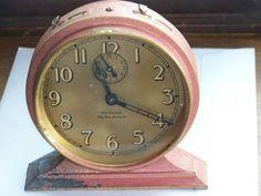 Westclox Big Ben Deluxe Pink Crackeled Paint Alarm Clock | eBay