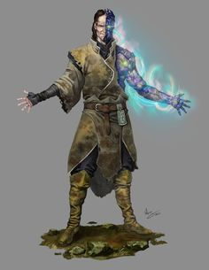 ArtStation - Characters, Alejandro García mage using elemental energy - burning fist or fireball? male human DnD character - possibly going to the dark side? Character Creation, Character Concept, Character Art, Concept Art, Character Ideas, Dungeons And Dragons Characters, Dnd Characters, Fantasy Characters, High Fantasy