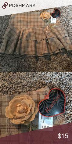 HeartSoul Beige Plaid Mini Skirt Cute plaid juniors skirt new with tags HeartSoul Skirts Mini