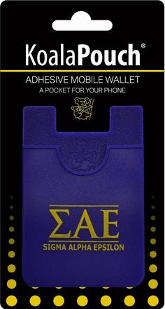 Sigma Alpha Epsilon SAE Fraternity Koala Pouch - Brothers and Sisters' Greek Store Sae Fraternity, Sigma Alpha Epsilon, Greek Store, English Spelling, Cell Phone Wallet, Adhesive, Pouch, Sisters, Cards