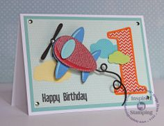 Luv 2 Scrap n' Make Cards: Birthday Plane: Inspired By Stamping and Miss Kate Cuttables