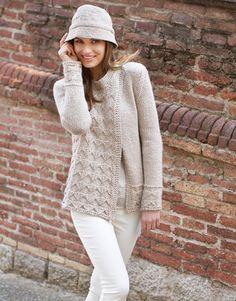Designs for women by Katia #winter #autumn 2014 / 2015 #naturalgrey #knitting #katiayarns