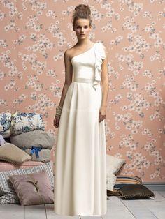 one shoulder vintage bridesmaids dress.