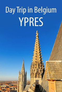 How to visit Ypres and the World War I battlefields in Belgium. Suggested day trip itinerary including Tyne Cot, Essex Farm war cemetery, trenches, Yser Tower and more. Europe Travel Guide, Europe Destinations, Europe Places, Travelling Europe, European Vacation, European Travel, Bruges, Holland, Europe Bucket List