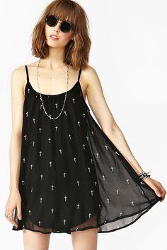 Cross Slip Dress