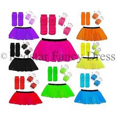 Neon tutu set #accessories #1980s skirt fancy #dress hen party outfit costume 80s, View more on the LINK: http://www.zeppy.io/product/gb/2/261621084844/