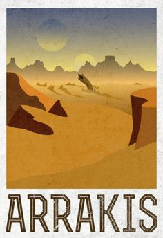 Arrakis Retro Travel Affiche