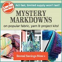 Craftsy is offering Mystery Markdowns today and tomorrow ONLY! This link also gives you access to free online classes, cake decorating recipes, and patterns. Craftsy supplies and classes make GREAT Christmas gifts, too!