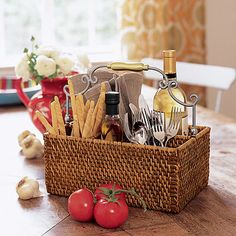 """wowzerrrr!! Reg $80 sale $18 get it quick... love mine in my office for organizing!! Perfect for an on-the-go breakfast, picnic or every day on your buffet. Gold and silver accents add the right amount of shine to our woven rattan caddy. (12 1/2"""" x 8 1/2"""" x 11"""" tall, including handle) http://staceyeverett.store.willowhouse.com/product.aspx?zpid=6070"""