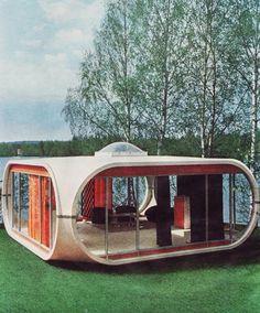 De Venturo vakantiehuisjes een kunststof bouwsysteem in 1971 ontworpen door de Finse architect Matti Suuronen.