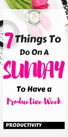 What do you do to have a productive week? Sundays can be bittersweet. However, if you use your Sundays to get ready for the week, it takes the stress away and guarantees a productive week. Working Mom Schedule, Work This Out, Need To Meet, Productivity Hacks, Time Management Tips, How To Get, How To Plan, How To Wake Up Early, Self Improvement