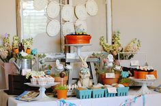 A {Beautiful} Beatrix Potter-inspired Easter Dessert Table from @FancifulEvents