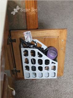Bedroom Organization ~ MAG RACK repurposed to hold dryer/curing irons...frees up drawer space!