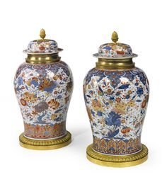 A pair of Chinese Export Imari ormolu-mounted jars and covers circa 1725   Lot   Sotheby's