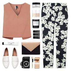 """""""bells"""" by martosaur ❤ liked on Polyvore featuring Topshop, Erdem, philosophy, Uslu Airlines, Byredo, Monki, Bobbi Brown Cosmetics and Eos"""