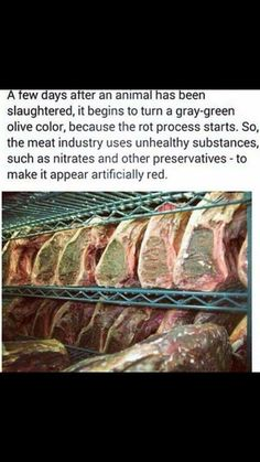 If they have to add crap to make it visually appealing, why would you want to eat it.......yet another way to poison your body for the profits of another.