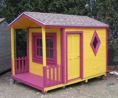 31 Free DIY Playhouse Plans to Build for Your Kids' Secret Hideaway Outdoor Projects, Pallet Projects, Home Projects, Diy Pallet, Pallet Wood, Woodworking Projects, Pallet Ideas, Pallet Patio, Outdoor Pallet