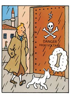 tintin & snowy // snowy on his never-ending hunt for bones...