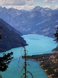 Lake Chelan From Domke Mountain, Washington State http://www.vacationrentalpeople.com/vacation-rentals.aspx/World/USA/Washington-State/