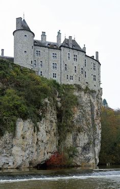 The castle of Walzin, Belgium
