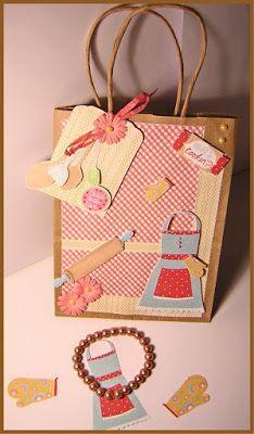 Papercraft Inspirations Magazine Retro Baking Free Printables Gift Bag Inspirations Magazine, Free Printables, Crafty, Baking, Retro, Holiday Decor, Blog, How To Make, Gifts