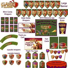 Instant download Clash of Clans Birthday Pack  by DecorAtYourDoor