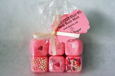 Pink Sugar scented Milk Bath Melt/truffles by LittleSwanSoapCo, $5.00