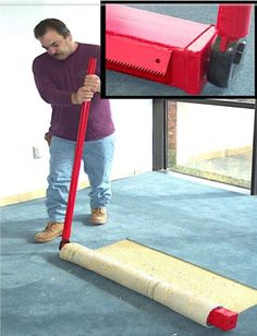 """The Jackrabbit is the ultimate weapon for removing glue-down carpet. The machine will average up to 75-100 yards per hour with one person operating. It is both affordable and effective, making it the perfect alternative to costly mechanical pullers. The Jackrabbit is ideal for removing double stick and unitary backed carpets, where mechanical pullers will shred the carpet. Averages 75-100 yards per hour Tired of pulling 2-3"""" wide strips by hand? Pull 4 feet with the Jackrabbit. Window Cleaning Tips, Deep Cleaning Tips, Toilet Cleaning, House Cleaning Tips, Natural Cleaning Products, Cleaning Hacks, Silver Grey Carpet, Beige Carpet, Carpet Repair"""