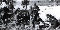 A group of Belgian engineers relax outside Antwerp in August, 1914. (Belgian Royal Army Museum)
