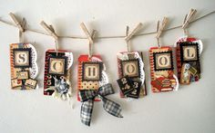 Love this tag banner from the ABC primer from Jack and Cat ....I need to find a teacher to make this for!!!