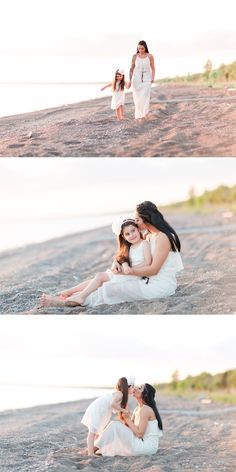 Beautiful Beach Mother Daughter Session