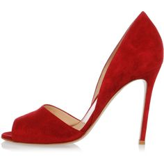 Gianvito Rossi Leather CAMTAMA Pumps 10 cm ($180) ❤ liked on Polyvore featuring shoes, pumps, red, leather sole shoes, peep toe pumps, red shoes, peep-toe pumps and red pumps