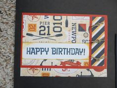 CTMH Tommy paper.... card by Chris Hill.... (change sentiment)