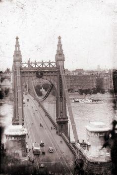 Kilencven éve is káosz volt Budapest útjain Old Pictures, Old Photos, Budapest Hungary, Tower Bridge, Homeland, Brooklyn Bridge, Historical Photos, Past, In This Moment