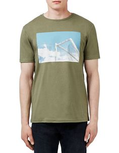 012ed02ffbf Khaki Goal Posts Photo Print T-Shirt - Shirts   Tanks - Clothing