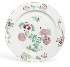 A FAMILLE-ROSE 'FLORAL' DISH QING DYNASTY, 18TH CENTURY - Sotheby's