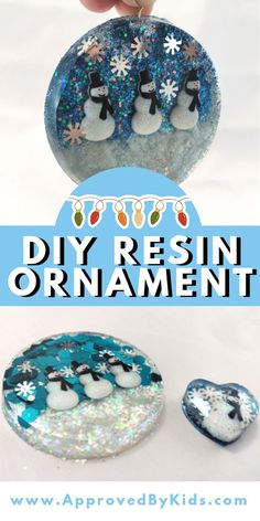 Christmas Crafts for teens How to make a ADORABLE Snowman Holiday Ornament with resin. Resin crafts are so much fun and perfect for Christmas and the holiday season. Kids and teens will love to make this Christmas craft to decorate your tree. Diy Resin Projects, Diy Resin Art, Diy Resin Crafts, Diy Arts And Crafts, Diy Resin Ornaments, Christmas Ornament Crafts, Holiday Crafts, Christmas Ideas, Holiday Ornaments